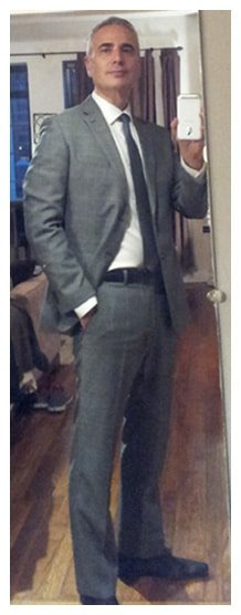 weight loss before and after pictures - fit in a mens suit off the rack - Hashi Mashi Diet + Training